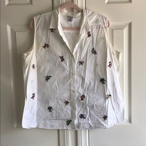 vintage mickey disney button up tank